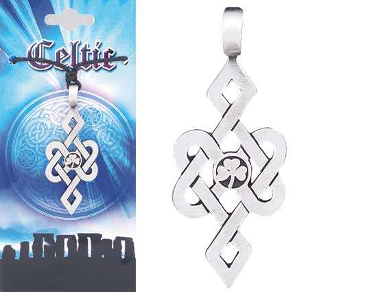 CELTIC Shamrock Pewter Pendant